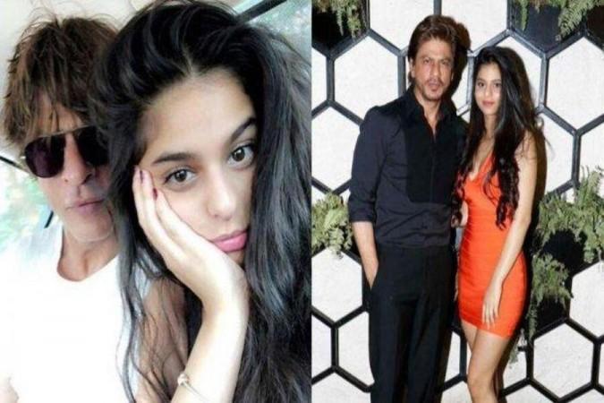 Shah Rukh Khan and his daughter Suhana Khan