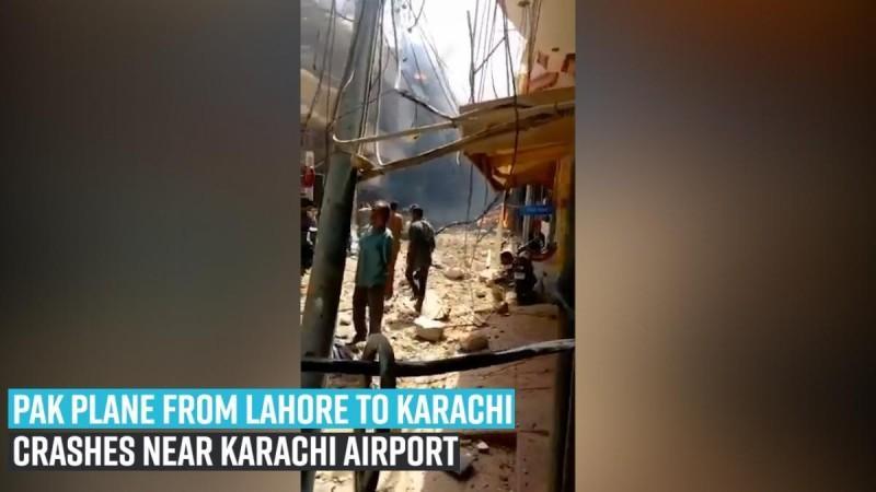 Avión Pak de Lahore a Karachi se estrella cerca del aeropuerto de Karachi