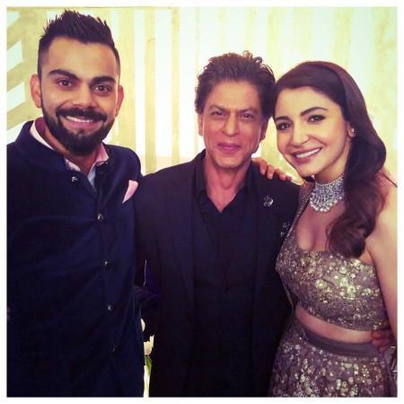 Shah Rukh Khan, Virat Kohli and Anushka Sharma