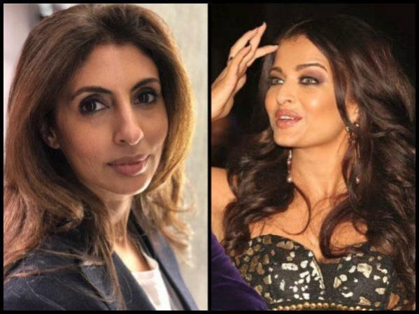 Aishwarya Rai Bachchan and Shweta Bachchan together