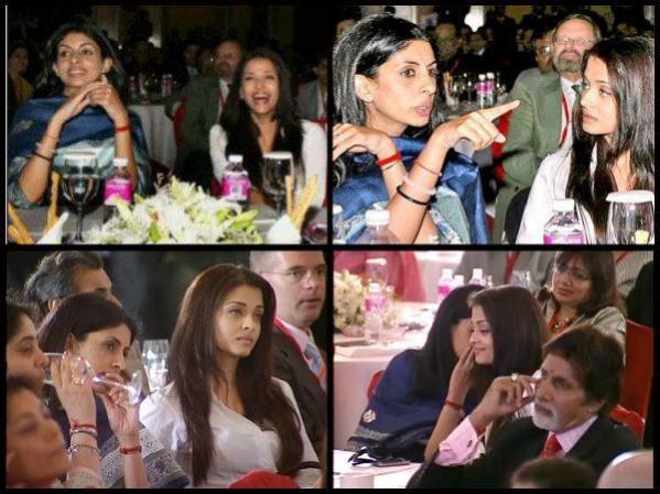 Aishwarya Rai Bachchan and Shweta Bachchan