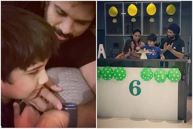 Allu Arjun with his family members