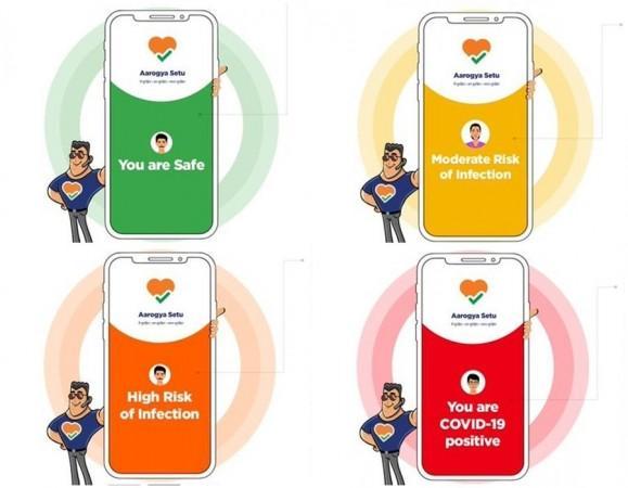 Aplicación Aarogya Setu - Pantallas de inicio