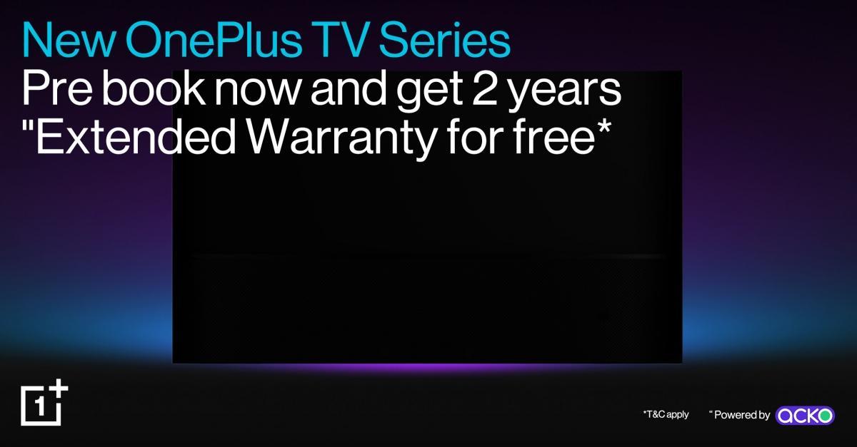 Pre-book budget OnePlus TV in India, garanzia estesa di 2 anni 'gratuita'