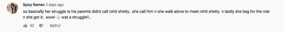 Comment on Sara Ali Khan