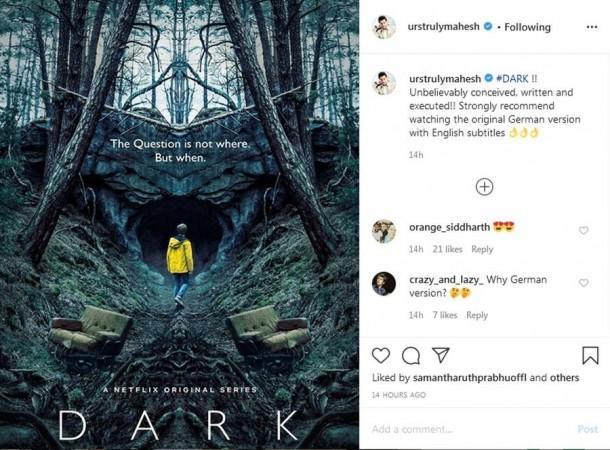 Mahesh Babu's review of Dark