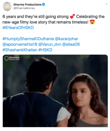 Fans celebrate #6YearsOfSidharthInHSKD