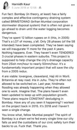 Harnidh Kaur post on BRIMSTOWAD