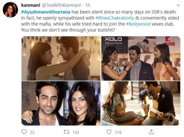 Twitter users target Ayushmann Khurrana for maintaining silence since SSR's death