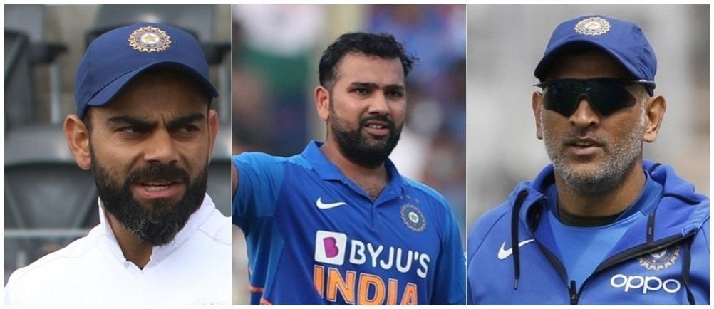 Virat Kohli, Rohit Sharma and MS Dhoni
