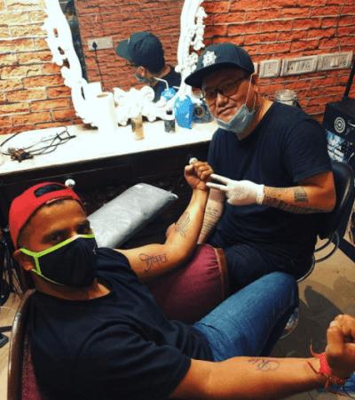 Suresh Raina gets a tattoo