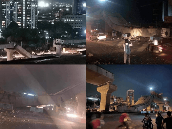 Fact Check Viral Pictures Are From Gurgaon Flyover Collapse Not Bengaluru Ibtimes India