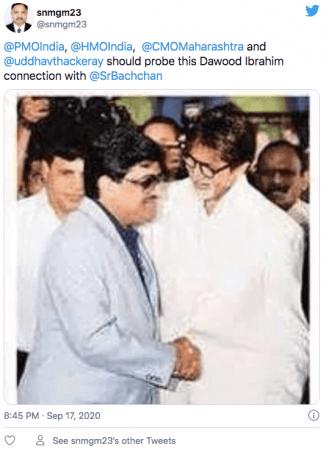 Tweet on Amitabh Bachchan