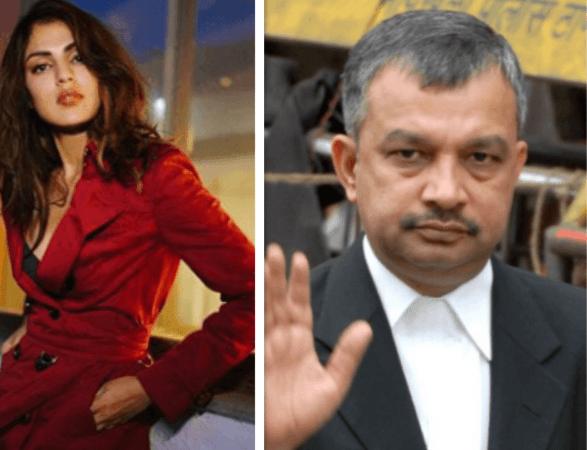 Rhea Chakraborty and Satish Maneshinde