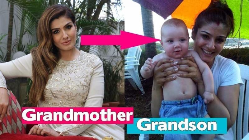 Raveena has a grandson