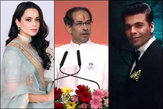 Karan Johar , Kangana Ranaut and Uddhav Thackeray