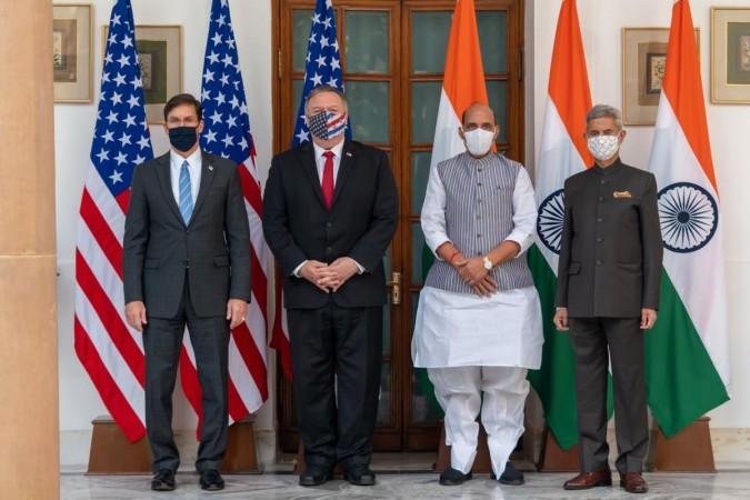 2 2 dialogue - Jaishankar, Rajnath with Esper, Pompeo