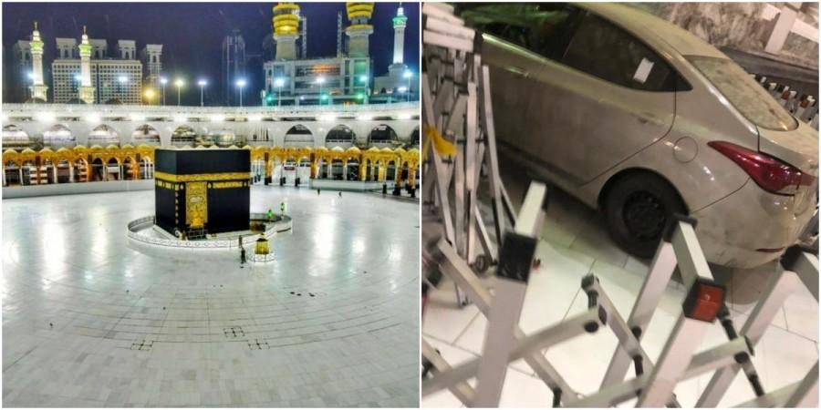 Car rams into one of the gates of Mecca's grand mosque