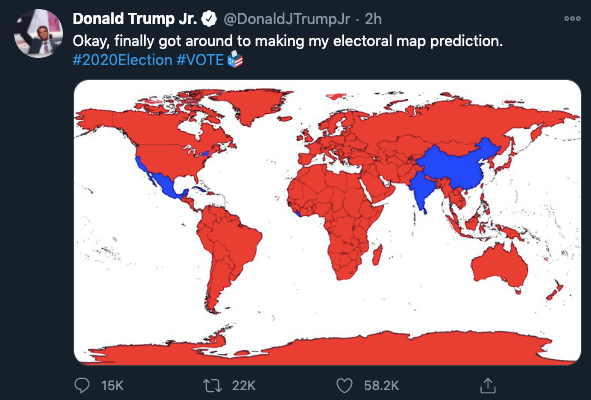 Trump Jr shares India map without Kashmir; indicates ...