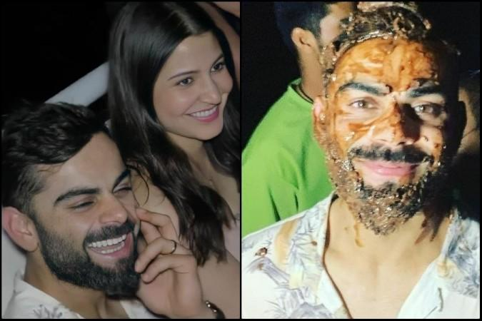 Captain Virat Kohli celebrates birthday with Anushka ...