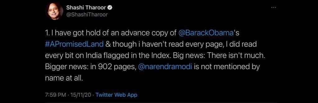 Tharoor's tweet