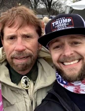 Image showing Chuck Norris at US Capitol riots goes viral