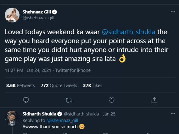 Sidharth's reply