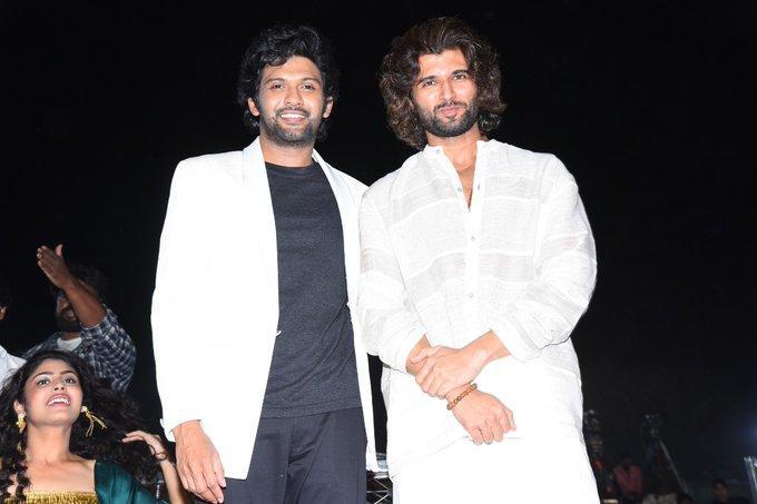 Vijay Deverakonda goes emotional at 'Jathi Rathnalu' pre-release function