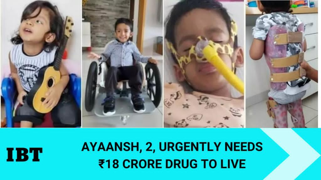 Two-year-old Ayaansh with Spinal Muscular Atrophy (SMA ...