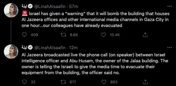 Al Jazeera building to be bombed
