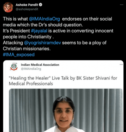 Fact check: Filmmaker falsely links Brahma Kumari's meditation to Christian conversions