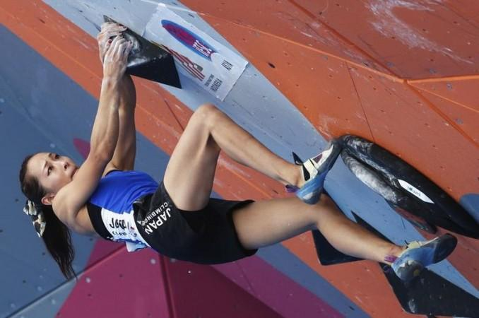 A file photo of a sport climbing event held at the 2018 Asian Games