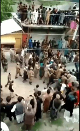 PoJK residents holding protest