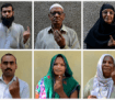 Indian voters after casting their votes