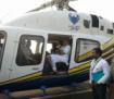 Prime Minister Narendra Modi in helicopter