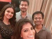 Sarkar director AR Murugadoss celebrates birthday with Thalapathy Vijay, Keerthi Suresh and Varalakshmi Sarathkumar