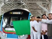 Hyderabad Metro Rail from Ameerpet to LB Nagar flagged off