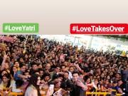 Loveratri pair Aayush Sharma and Warina Hussain turn choreographers for college students in Pune