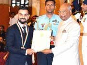 Virat Kohli receives Khel Ratna from President Ram Nath Kovind