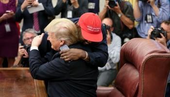 U.S. President Donald Trump,President Trump,Donald Trump,Kanye West Donald Trump,Donald Trump and Kanye West meeting,Kanye West meets Donald Trump,Rapper Kanye West