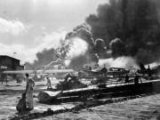 Rare unseen images of the attack on Pearl Harbor in Hawaii