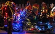 Bikers & Santa Claus For Christmas