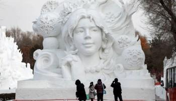 Harbin International Ice and Snow Sculpture Festival,Harbin International Ice and Snow Sculpture Festival 2019,Harbin,Harbin China,ice festival,Festival,festivals around the world,festival of colours