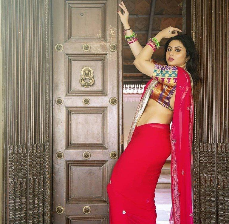 Namitha Latest Photoshoot In Saree - Actress Album