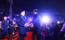 Kamal Haasan greets Rajinikanth at Ungal Naan