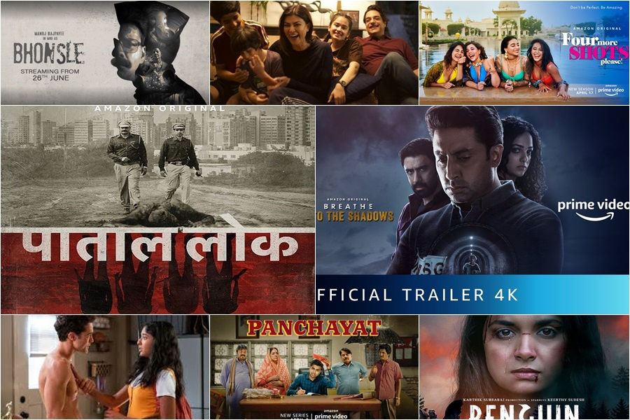 Indian web shows,Indian web series,breathe into the shadows,paatal lok,bhonsle,penguin,band baja baarat,baarish,boo sabki phategi,chaman bahar,panchayat,aarya,never have i ever,jamtara