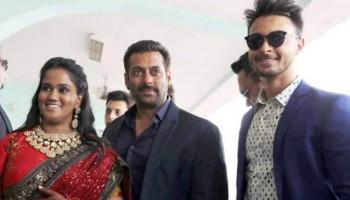 Salman Khan attends sister Arpita Khan's reception in Himachal Pradesh,Salman Khan attends sister Arpita Khan's reception,Arpita Khan's reception,Salman Khan sister Arpita Khan's reception,Arpita Khan wedding reception,Arpita Khan wedding reception pics,A