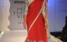 Designer Anju Modi Collection at Amazon India Fashion Week 2015, Delhi