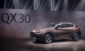 The 2017 Infiniti QX30 is unveiled at the Los Angeles Auto Show in Los Angeles, California.