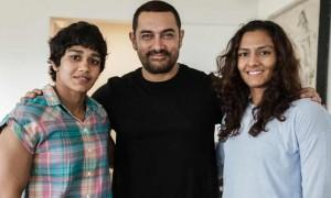 News is Aamir Khan has sent handwritten letters to Mahavir Phogat's daughter Babita Kumari and Vinesh Phogat (Babita's cousin) to wish them luck for the Olympics 2016.